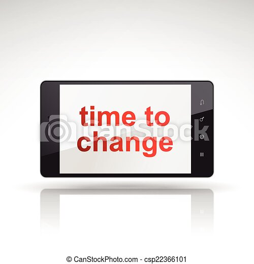 time to change words on mobile phone - csp22366101