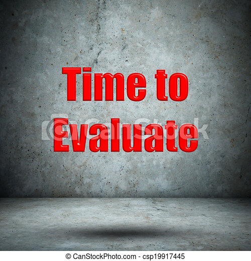 Time to Evaluate concrete wall - csp19917445