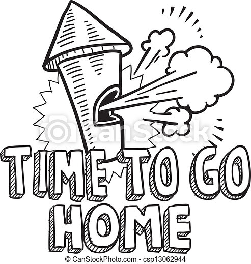 Time to go home sketch - csp13062944