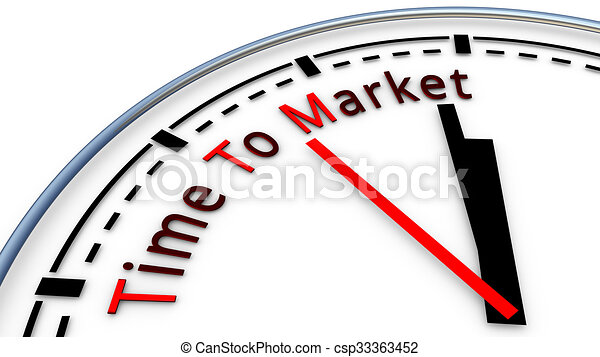 Picture Of Time To Market Clock Concept Time Used To Design A New