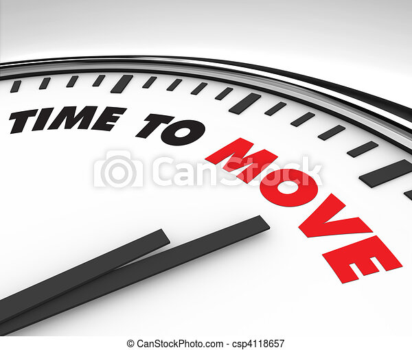 Time to Move - Clock - csp4118657