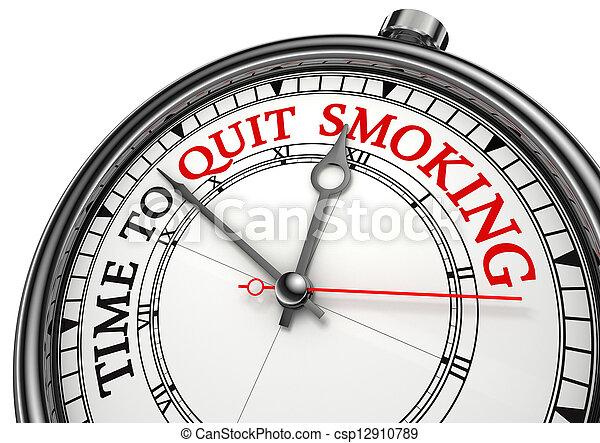 time to quit smoking - csp12910789