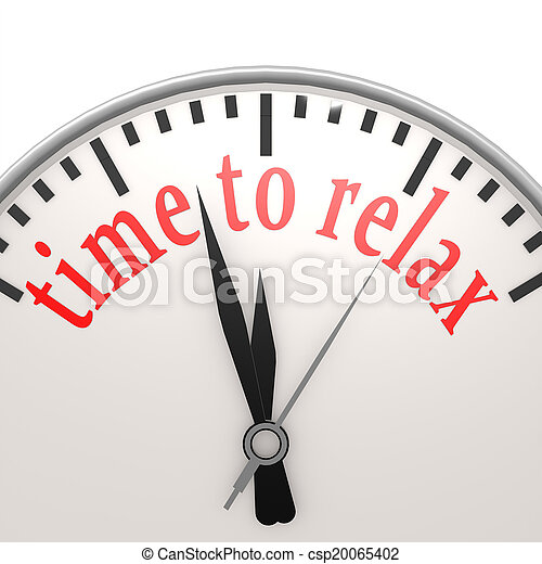 Time to relax clock - csp20065402