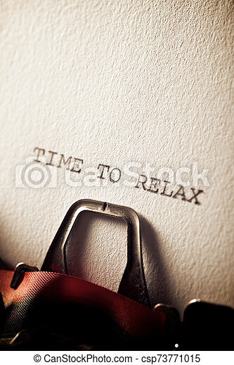 Time to relax - csp73771015