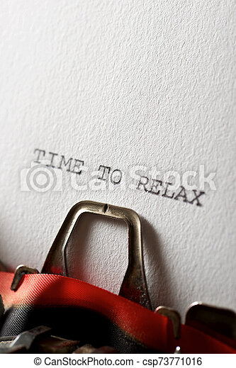 Time to relax - csp73771016