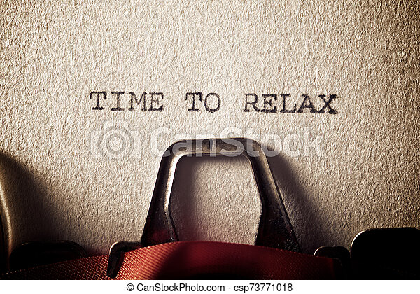 Time to relax - csp73771018
