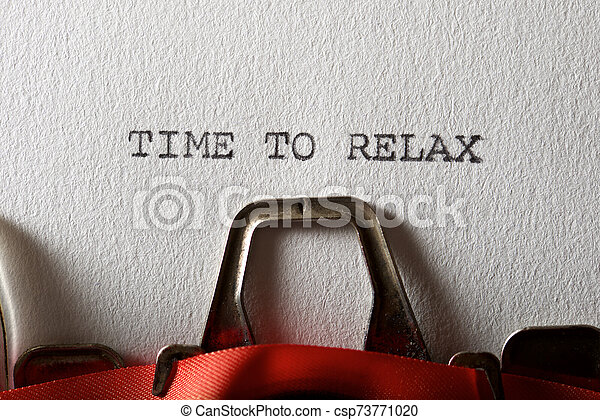 Time to relax - csp73771020
