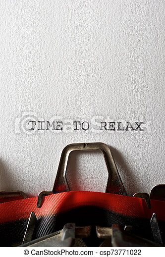 Time to relax - csp73771022