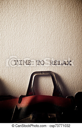 Time to relax - csp73771032