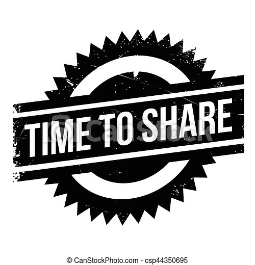Time to share stamp - csp44350695