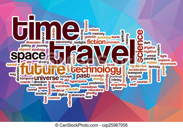 Time Travel Word Cloud With Abstract Background