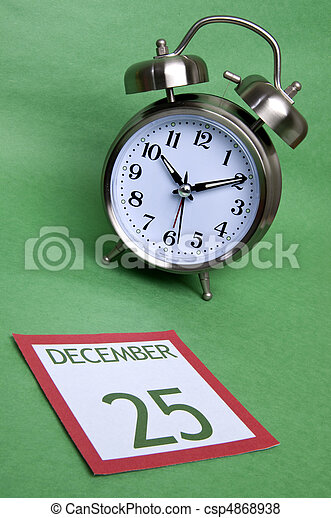 Time Until Christmas - csp4868938