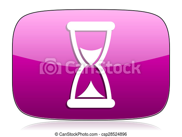 time violet icon hourglass sign - csp28524896