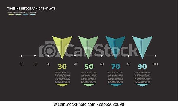 Horizontal Line Art : Timeline arrow template horizontal line vector infographic
