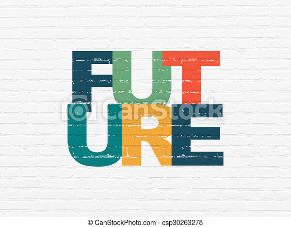 Timeline concept: Future on wall background - csp30263278