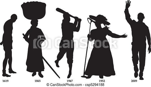 timeline, drapeau, noir, histoire - csp5294188