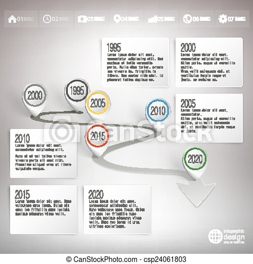 Timeline With Pointer Marks Infographic For Business Design And - Timeline website template