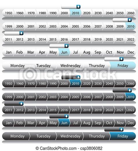 Timeline Years - csp3806082