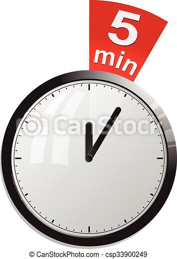 timer 5 minutes vector illustration in eps 10
