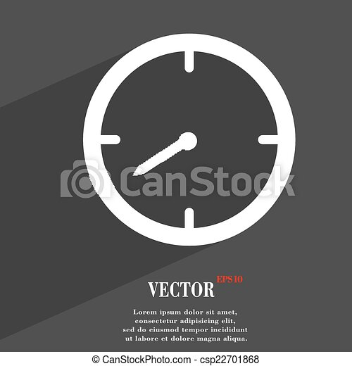 Timer icon symbol Flat modern web design with long shadow and space for your text. Vector - csp22701868