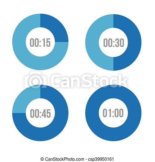 Timer icons vector circles - csp39950161