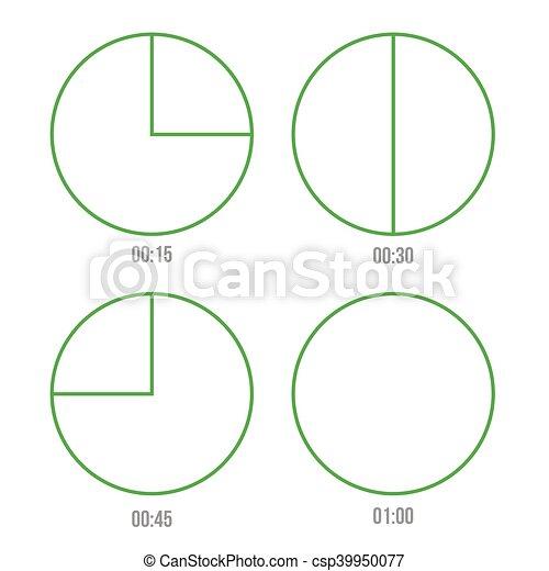 Timer icons vector circles - csp39950077
