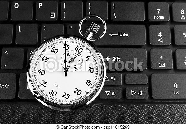 Timer on Black  - csp11015263