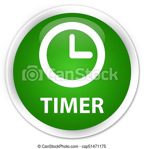Timer premium green round button - csp51471175