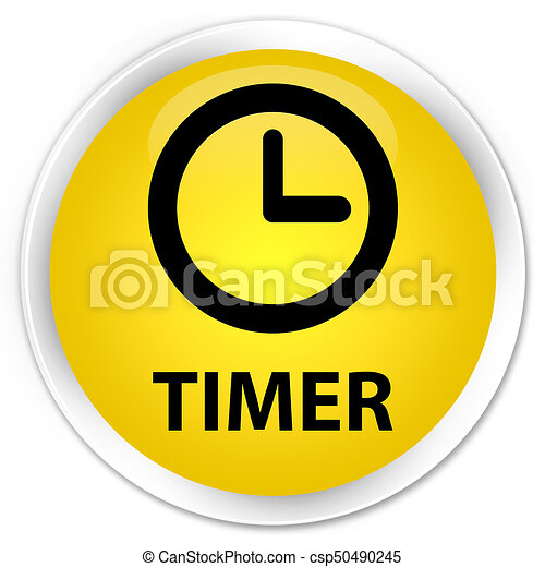 Timer premium yellow round button - csp50490245