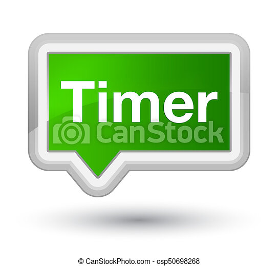 Timer prime green banner button - csp50698268