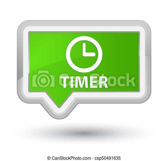Timer prime soft green banner button - csp50491635