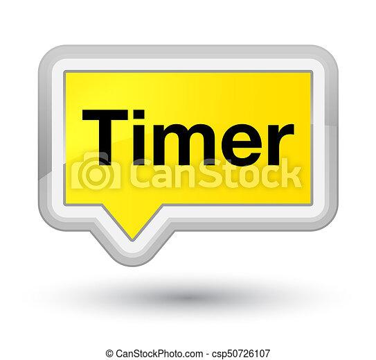 Timer prime yellow banner button - csp50726107