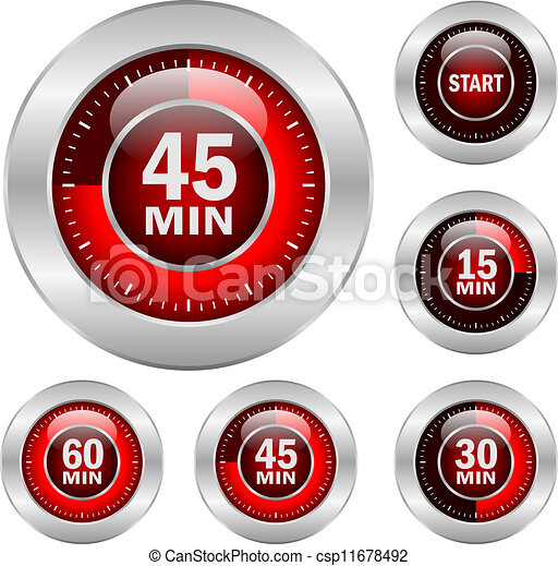 Timer vector icons - csp11678492