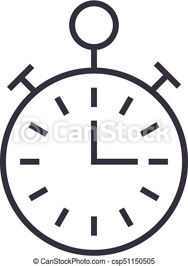 timer stopwatch time management vector line icon sign vector rh canstockphoto com