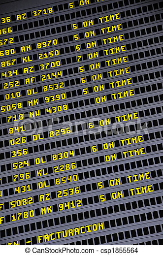 Timetable board 2 - csp1855564