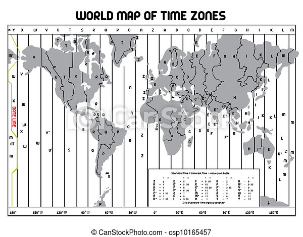 Timezone map clipart vector search illustration drawings and timezone map csp10165457 gumiabroncs Image collections