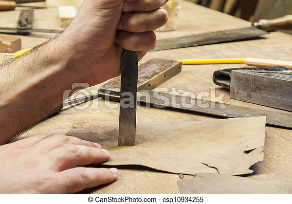 timmerman, woork, bouwsector, achtergrond, hout, gereedschap, tafel - csp10934255