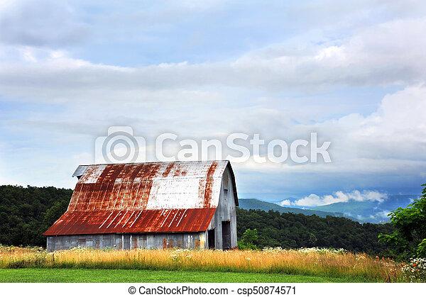 Tin Barn in Ozarks - csp50874571