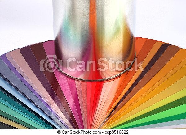 Tin can reflect colour sample chart - csp8516622