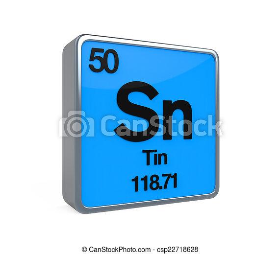 Tin element periodic table isolated on white background 3d render tin element periodic table csp22718628 urtaz Gallery