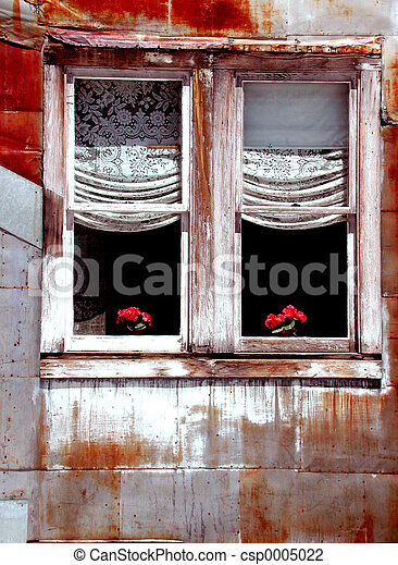 Tin house window - csp0005022