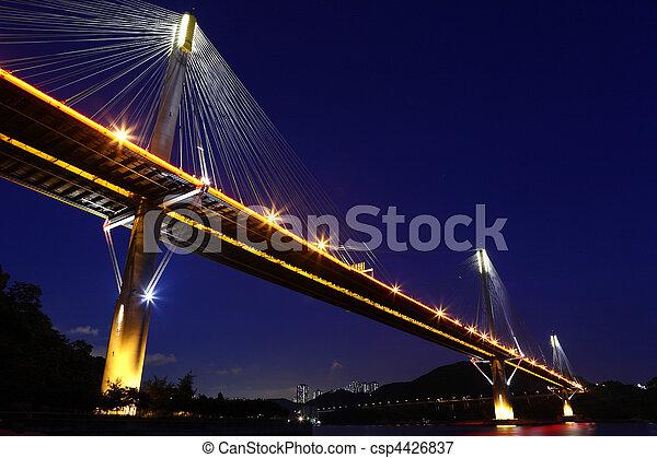 Ting Kau Bridge in Hong Kong - csp4426837