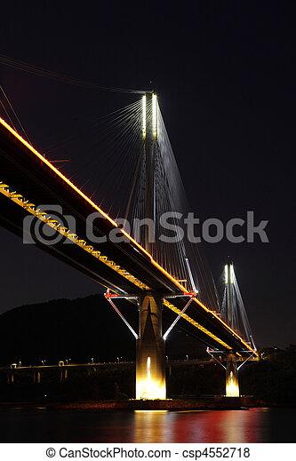 Ting Kau Bridge in Hong Kong - csp4552718