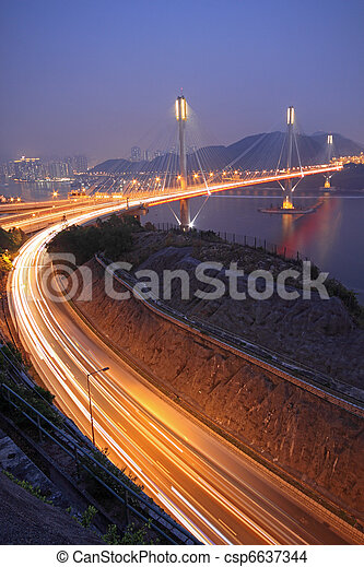 Ting Kau bridge  - csp6637344