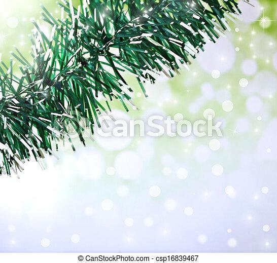 tinsel., weihnachten, hintergrund - csp16839467