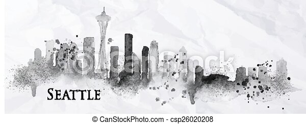 Silhouette tin seattle - csp26020208