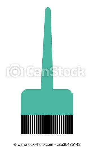 Un icono de pincel para el pelo - csp38425143