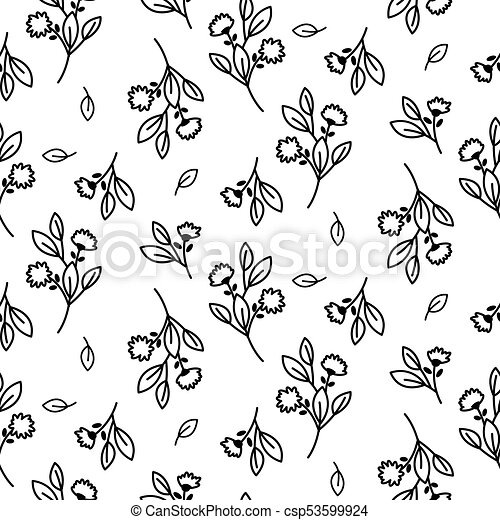 tiny floral seamless simple vector pattern repeat flower bloom