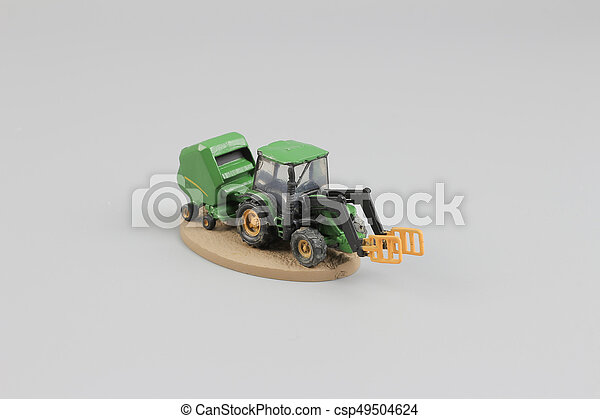 tiny of fun modell of Agricultural machinery. - csp49504624