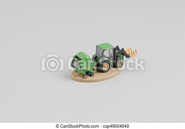 tiny of fun modell of Agricultural machinery. - csp49504649